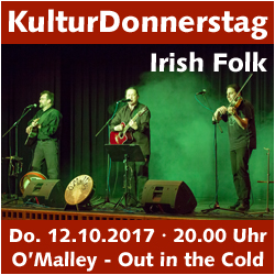 KulturDonnerstag: O'Malley - Out in the Cold @ Kulturforum Logenhaus | Erlangen | Bayern | Deutschland