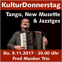 KulturDonnerstag: Fred Munker Trio @ Kulturforum Logenhaus | Erlangen | Bayern | Deutschland
