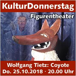 KulturDonnerstag: 40 Jahre FigurenTheater Regenbogen @ Kulturforum Logenhaus | Erlangen | Bayern | Deutschland