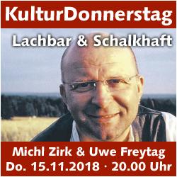 KulturDonnerstag: Erzählbühne von und mit Michl Zirk @ Kulturforum Logenhaus | Erlangen | Bayern | Deutschland