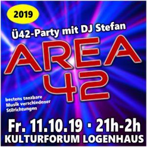 AREA 42 mit DJ Stefan @ Kulturforum Logenhaus