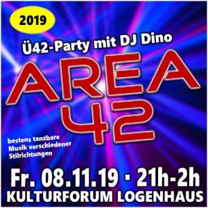 AREA 42 mit DJ Dino @ Kulturforum Logenhaus