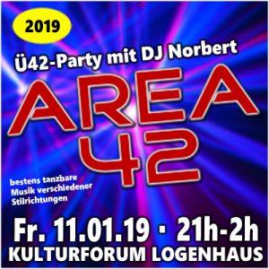AREA 42 mir DJ Norbert @ Kulturforum Logenhaus | Erlangen | Bayern | Deutschland