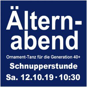 Schnupperstunde: Ornament-Tanz = Älternabend 40+ @ Kulturforum Logenhaus